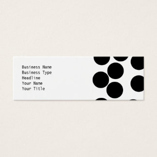 Big Dots. Black and White Pattern. Mini Business Card