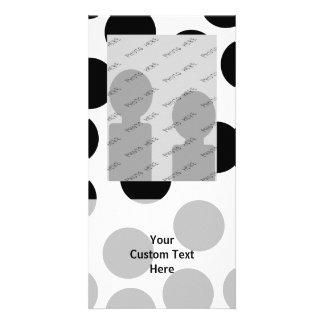 Big Dots. Black and White Pattern. Photo Card