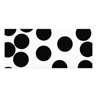Big Dots. Black and White Pattern. Full Color Rack Card