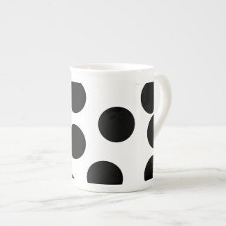 Big Dots. Black and White Pattern. Tea Cup