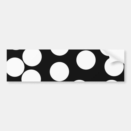 Big Dots in Black and White. Bumper Sticker