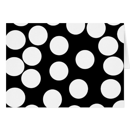 Big Dots in Black and White. Greeting Card