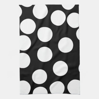 Big Dots in Black and White. Hand Towels