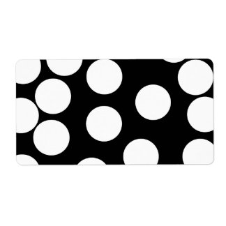 Big Dots in Black and White. Label