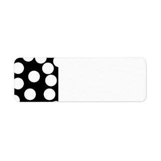 Big Dots in Black and White. Return Address Label