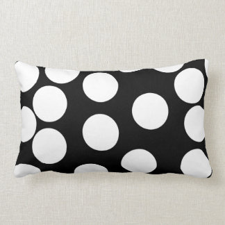 Big Dots in Black and White. Throw Pillow