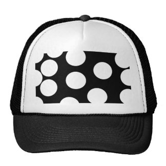 Big Dots in Black and White. Trucker Hat