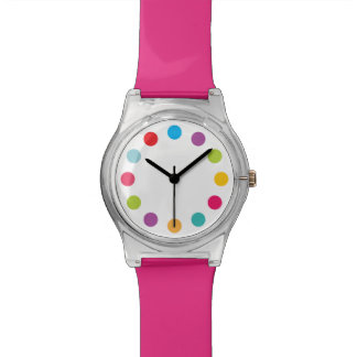 Big Dots of Color Bright Rainbow Watch