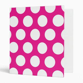 Big Dots on Hot Pink Design 3 Ring Binders