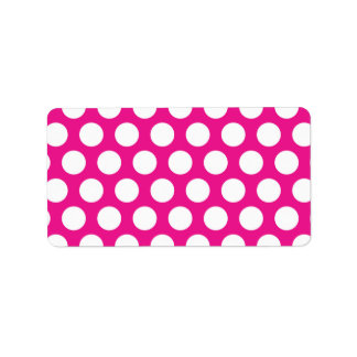 Big Dots on Hot Pink Design Label