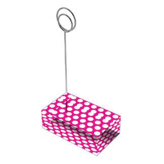 Big Dots on Hot Pink Design Place Card Holder