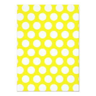 Big Dots on Yellow Design Card