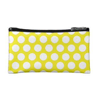 Big Dots on Yellow Design Cosmetic Bag
