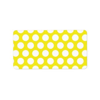 Big Dots on Yellow Design Label