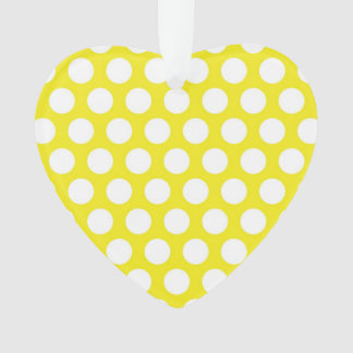 Big Dots on Yellow Design Ornament