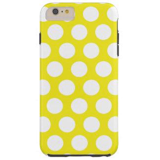 Big Dots on Yellow Design Tough iPhone 6 Plus Case
