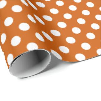 Big Dots Pattern Burnt Orange Wrapping Paper