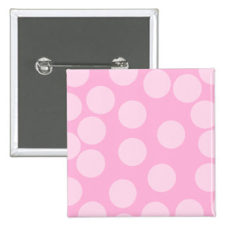 Big Dots Pattern. Pale Pink and Candy Pink. Button