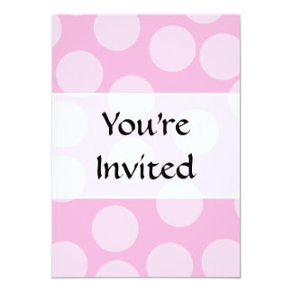 Big Dots Pattern. Pale Pink and Candy Pink. Card