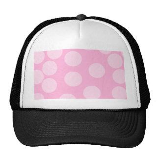 Big Dots Pattern. Pale Pink and Candy Pink. Hat