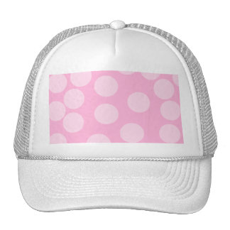 Big Dots Pattern. Pale Pink and Candy Pink. Mesh Hats