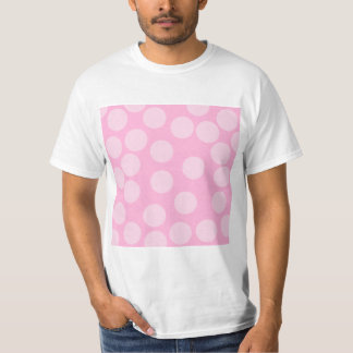 Big Dots Pattern. Pale Pink and Candy Pink. Tee Shirt