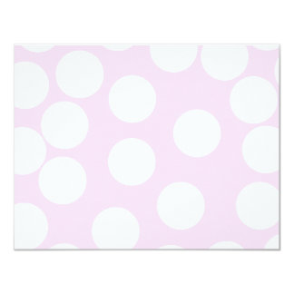 Big Dots Pattern. Pale Pink and White. Card