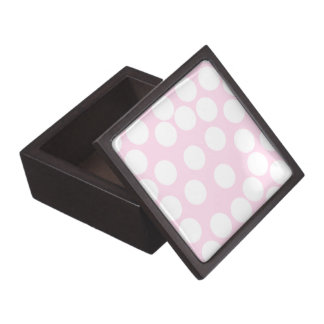 Big Dots Pattern. Pale Pink and White. Gift Box