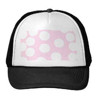 Big Dots Pattern. Pale Pink and White. Trucker Hat