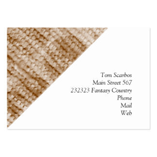 big dotted chenille,beige business card templates