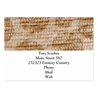big dotted chenille,beige business card template