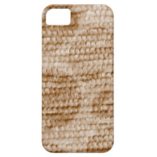 big dotted chenille,beige iPhone 5 cover