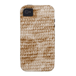 big dotted chenille,beige vibe iPhone 4 cover