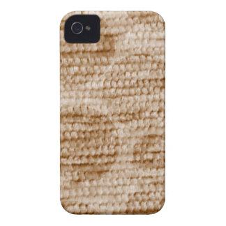 big dotted chenille,beige Case-Mate iPhone 4 case