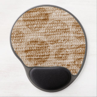 big dotted chenille,beige gel mouse pad