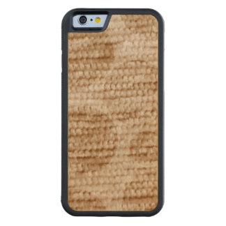 big dotted chenille,beige carved® maple iPhone 6 bumper case