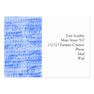 big dotted chenille,blue business card template