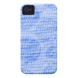 big dotted chenille,blue iPhone 4 Case-Mate cases