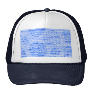 big dotted chenille,blue mesh hat