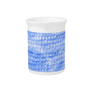 big dotted chenille,blue beverage pitcher