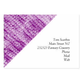 big dotted chenille,pink business card