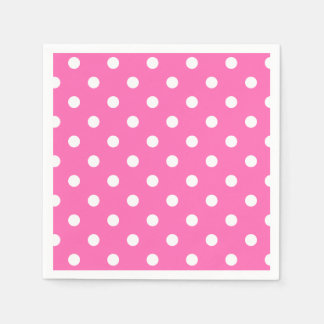 Big Dotted Hot Pink Disposable Napkins