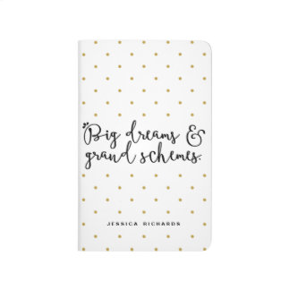 Big Dreams & Grand Schemes Personalized Journal