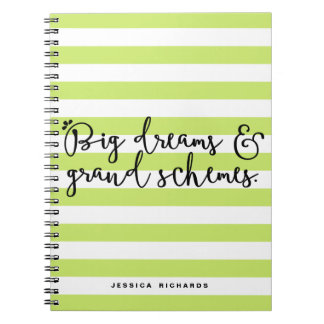 Big Dreams & Grand Schemes Personalized Notebook