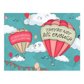 Big dreams postcard