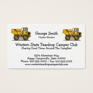 Big Dump Truck Business Card