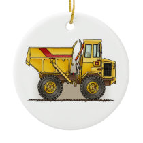 Big Dump Truck Ceramic Ornament