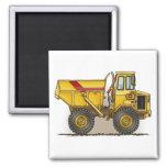 Big Dump Truck Square Magnet