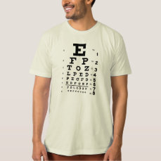 Big E (eye chart) fashion T-shirt
