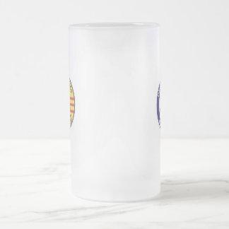 BIG E TONKIN GULF 16 OZ FROSTED GLASS BEER MUG